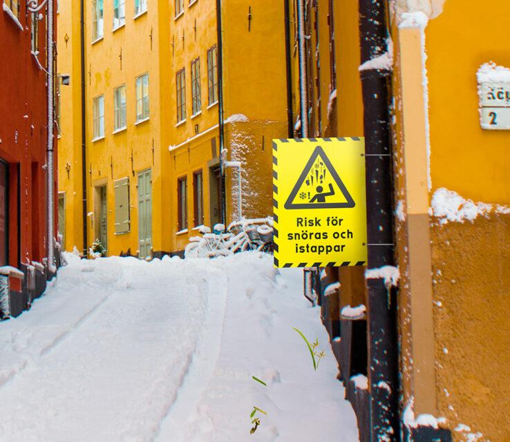 Varning för snöras Åtta.45 Trckeri