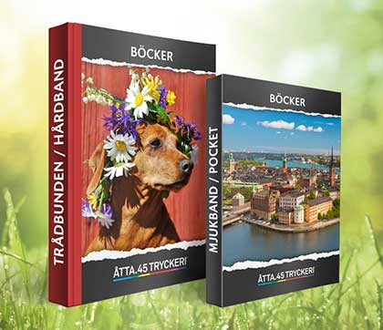 Åtta.45 Tryckeri Bok boktryck böcker