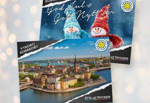 Åtta.45 Tryckeri Vykort Julkort Kort