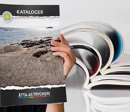 Åtta.45 Tryckeri Kataloger