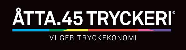 Åtta.45 Tryckeri Logotype