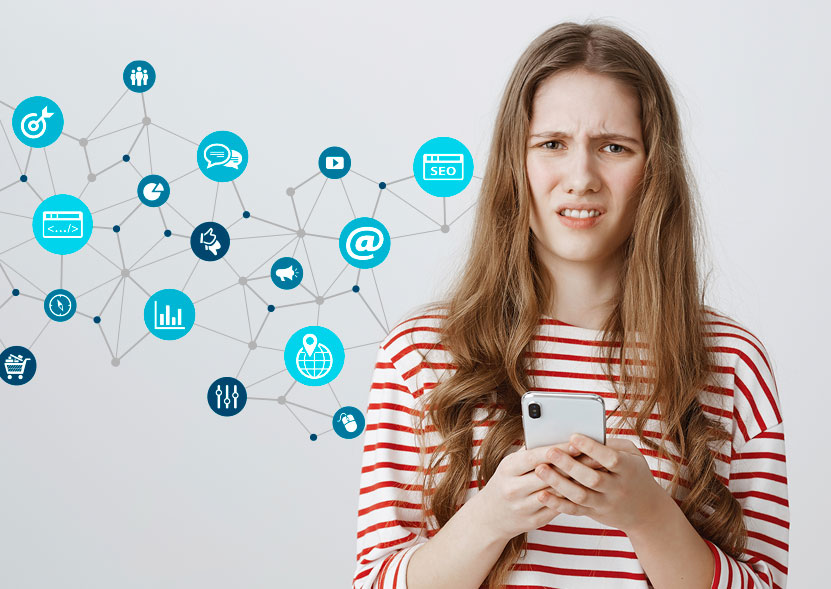 Åtta.45 Tryckeri Sociala Medier difgital reklam
