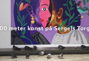 På Sergels Torg Åtta.45 Tryckeri Konst vernissage