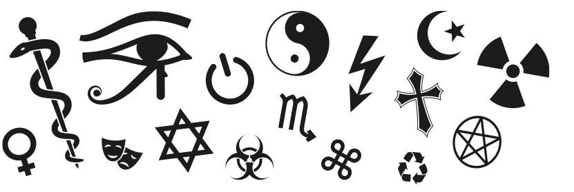 Åtta.45 Magasin grafiska symboler
