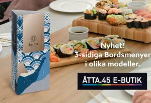 Bordsmeny Åtta.45 Tryckeri E-Butik